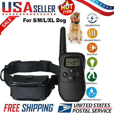 Dog Shock Collar With Remote Waterproof Electric Pet Training Waterproof US RF
