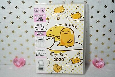 Sanrio Gudetama 2020 A6 Monthly Calendar Schedule Book Style #2 Made in JAPAN