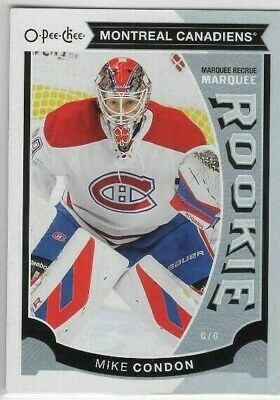 Mike Condon 15-16 O-Pee-Chee Marquee Rookie Update #U26 Montreal Canadiens