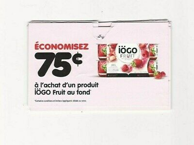 Coupons - 15 X Save 75 Cents On Iogo Fruit At The Bottom