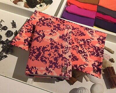 Pack of 3 Regular 8x10 FLORA Fabric BOOK COVERS Stretchable Reusable Made in USA