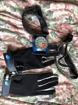 Galaxy Alti-2 Skydiving Altimeter, gloves and goggles