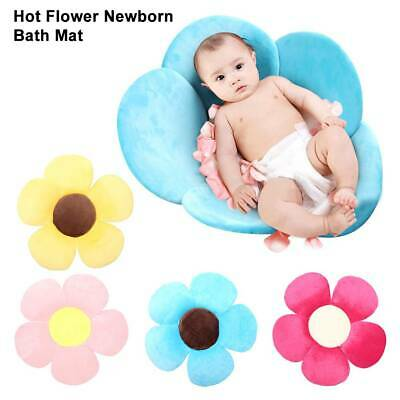 Newborn Baby Bathtub Foldable Blooming Flower Play Bath Sunflower Cushion Mat