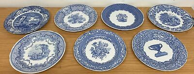 """Collection Of 7 Vintage Spode Blue Room Collection Decorative Plates 10.4"""" #392"""