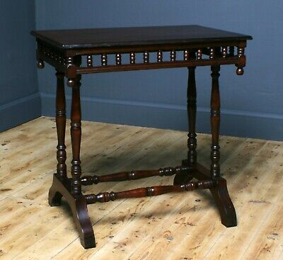 Antique Edwardian Mahogany Small Occasional Side Hall Window Table