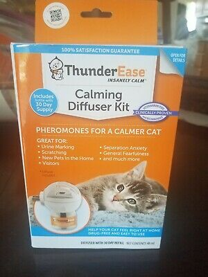 ThunderEase Cat Calming Pheromone Diffuser Kit - Reduce Scratching