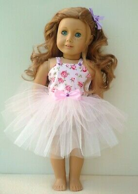 American Girl Our Generation Pink Rose Tutu Hair Bow Clip 18 Inch Doll Clothes
