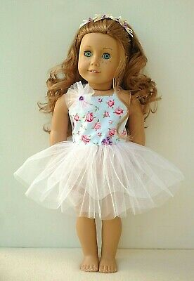 American Girl Our Generation Blue  Rose Tutu Bow Hairband 18 Inch Doll Clothes