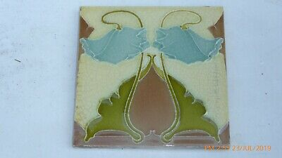 ART NOUVEAU  TILE  BY  J H BARRATT & CO  1896 to 1924
