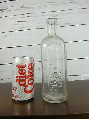 Antique Dr. Peter Fahrney & Sons Clear Glass Medicine Bottle Chicage, Ill