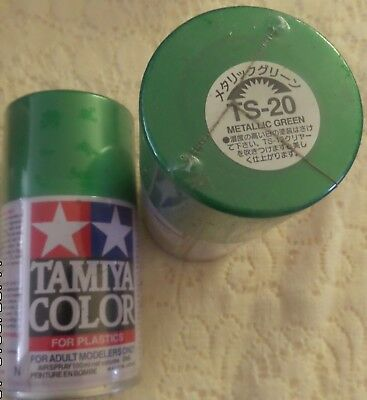 NEW/SEALED TAMIYA TS-20-METALLIC GREEN-100ml SPRAY CAN-4 AVAILABLE OR OTHER COLS