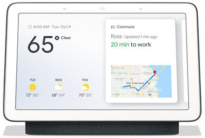 "NEW ✔ Google Home Hub - Hands-Free Smart Speaker | Charcoal | 7"" Screen 