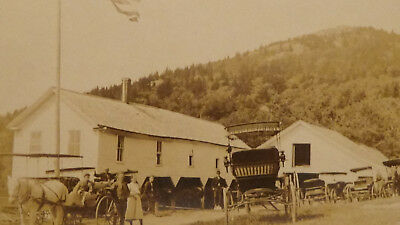 GOLDFIELD NV  1ST SETTLERS, GOLD MINING, BUILDING, TOWN VIEW Rppc Postcard
