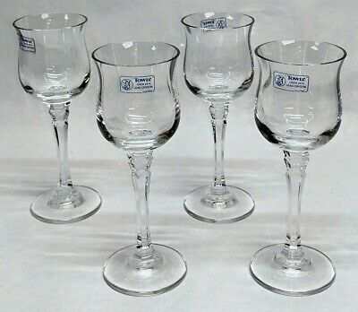 """Set of 4 TOWLE SILHOUETTE 24% Crystal Cordial Liqueur Glasses 5-1/2"""""""