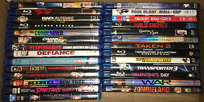 30 Bluray Movies Lot