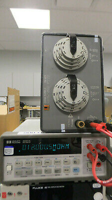 ESI DB877 Resistance Decade Box 0.1Ohm-12MOhm total AS-IS Read Free Shipping
