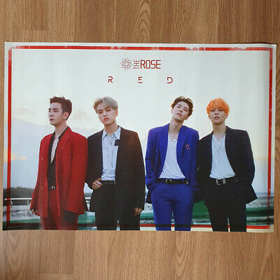 [Poster Only] The Rose 3rd Single Album RED Unfolded Hard Tube Case Packing Kpop