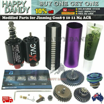 Upgrade Gearbox Metal Parts Jinming Gen 8 9 10 11 M4A1 ACR AK47 Gel Ball Blaster