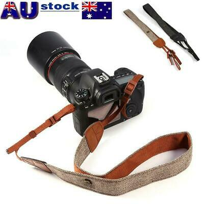 Camera Shoulder Neck Vintage Strap Belt for Sony Nikon Canon DSLR Pentax Cameras