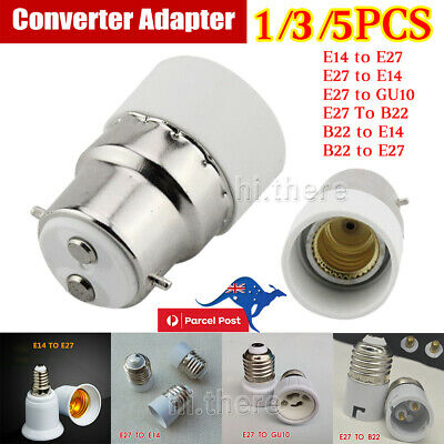 B22 E14 E27 GU10 Light Bulb Edison Screw Bayonet Cap Base Converter Adapter AU