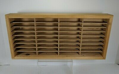 Napa Valley Cassette Wood 36 Slot Shelf 8 Track Video Game Crate Box Company