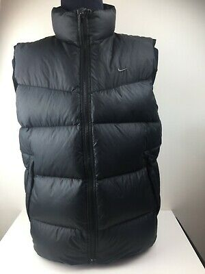 Nike - Mens Puffer Vest - Black -  Size Medium - Feather & Down - 550