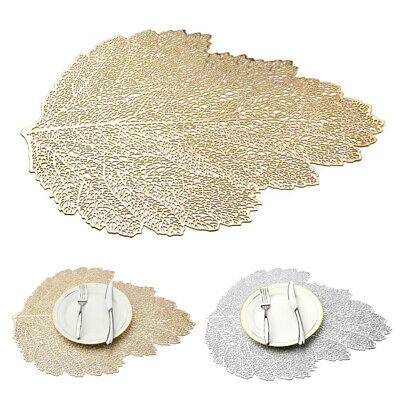 Creative Coffee Placemat PVC Table Mats Leaf Hollow Pad Milk Cup Mat Pad Decors