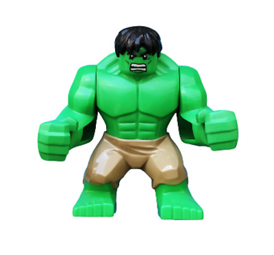 Lego Hulk 6868 Big Figure Dark Tan Pants Super Heroes Avengers Minifigure