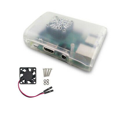 Fit Raspberry Pi 2/3 Model B Acrylic Case Cover Enclosure Box with Cooling Fan