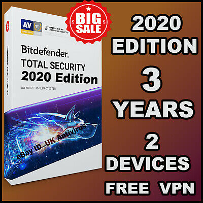 Bitdefender Total Security 2019 / 2020 - 3 Years Activation 2 Device - Download