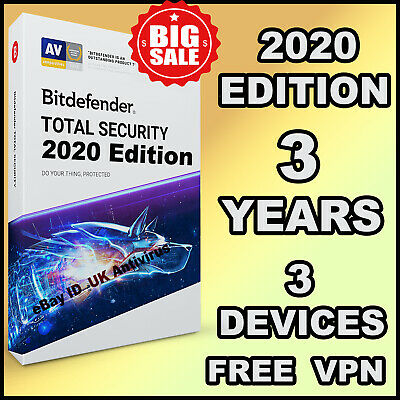 Bitdefender Total Security 2019 / 2020 - 3 Years Activation 3 Device - Download