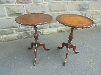 Pair Mahogany Tripod Wine Tables