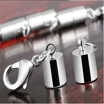 Hot Selling 5/10Pcs Silver Loose Magnetic Lobster Clasp Necklace Bracelets 6mm