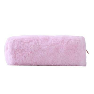 Plush Fuzzy Fluffy Pencil Case Makeup Zipper Pouch Coin Purse Bag Supplies T
