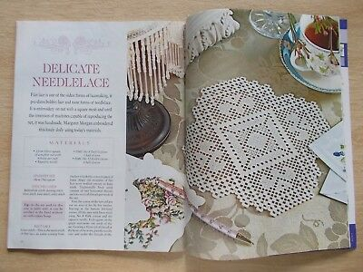 Embroidery & Cross Stitch Vol 16 #2~Snutki~Bag~Bell Pull~Needlelace~Roses Heart