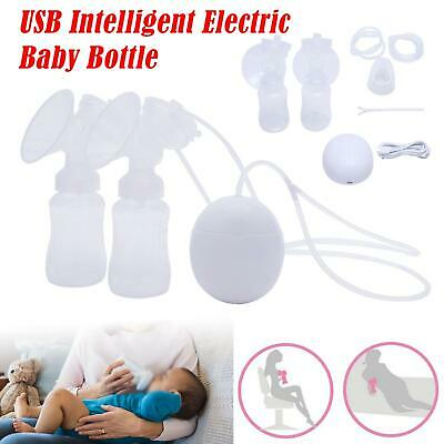 Electric Hand Free Double Breast Pump Automatic Intelligent Baby Feeder UK Plug