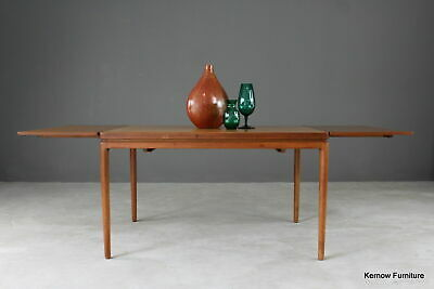 Retro Danish Extending Johannes Andersen Christian Linneberg Teak Dining Table