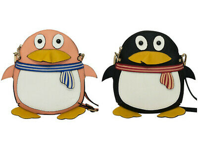 Ladies Girls Funky Little Penguin Cross Body Bag Small Shoulder Casual Handbag