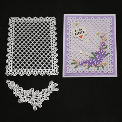 Flower Lattice Cutting Dies Stencil Scrapbooking Embossing Album Paper Card DIY