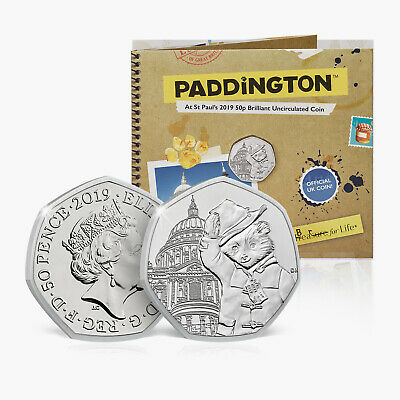 Paddington Bear 50p Coin Official Royal Mint at St Pauls Cathedral Licensed Pack