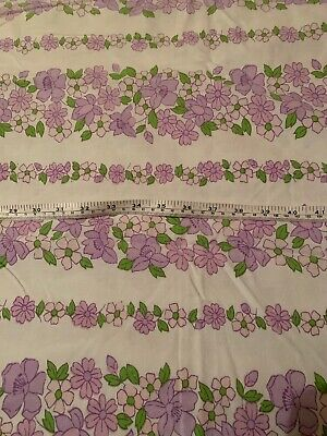Vintage Flat Sheet X 2 Fabric Material Used. Single Bed. Retro. Floral Cotton.