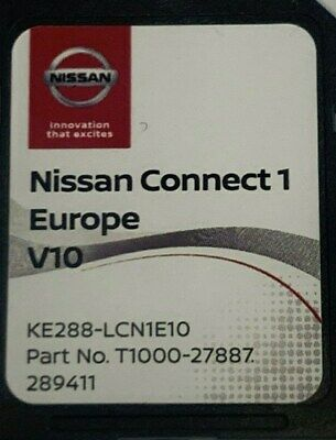 Genuine Nissan Connect 1 V9 Maps Latest Sat Nav Sd Card 2019/2020