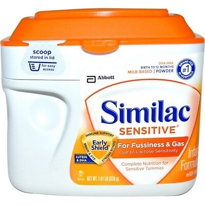 Similac, Sensitive, Infant Formula with Iron, Birth to 12 Months, 1.41 lb (638 g