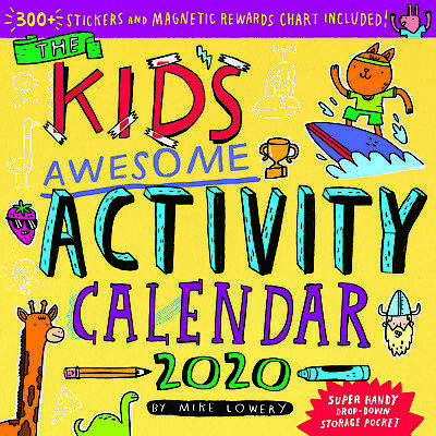 Kid's Awesome Activity 2020 Square Wall Calendar 30 x 30cm by Workman FREE POST