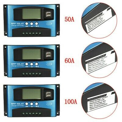 30-100A LCD Display MPPT Solar Controller Two-way MOS Tube Anti-backflow Circuit