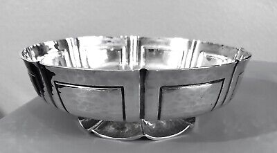 Vintage Lionel Crichton London Hand Wrought Sterling Silver Bowl