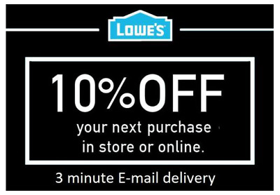 TWO 2x Lowes 10% OFF 2Coupons Discount - Lowe's In store/online -FAST Delivery