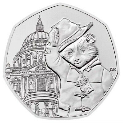 2019 50p COINS PADDINGTON BEAR AT ST PAULS CATHEDRAL BRILLIANT UNCIRCULATED
