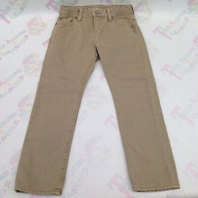 Gap Boys Slim Leg Beige Stone Trousers Cotton Age 7 - Ex Con