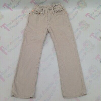 Gap Boys Straight Stone Beige Corduroy Trousers - Age 6 Ex Con